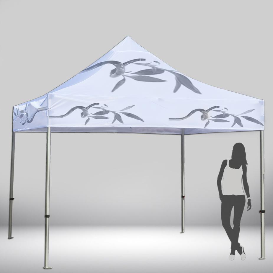 Carpa personalizada que puede utilizarse como stand para ferias y otros eventos