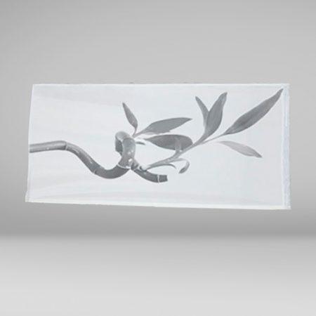 Bandera Horizontal con motivo florar