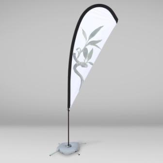 Fly Banner Gota individual. Tambien conocido como Fly Banner Lágrima
