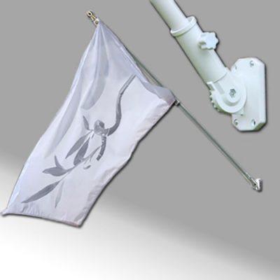 Mástil para pared con bandera