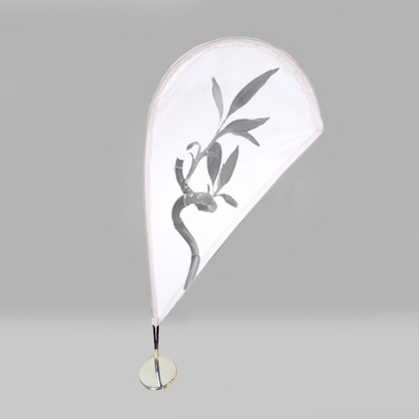 Mini Fly Banner Modelo Gota con detalle floral
