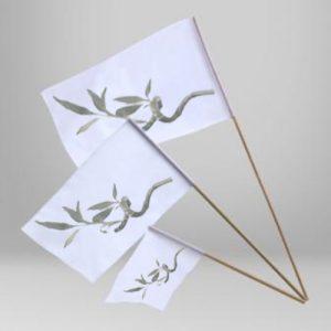 Bandera con palo para manifestaciones