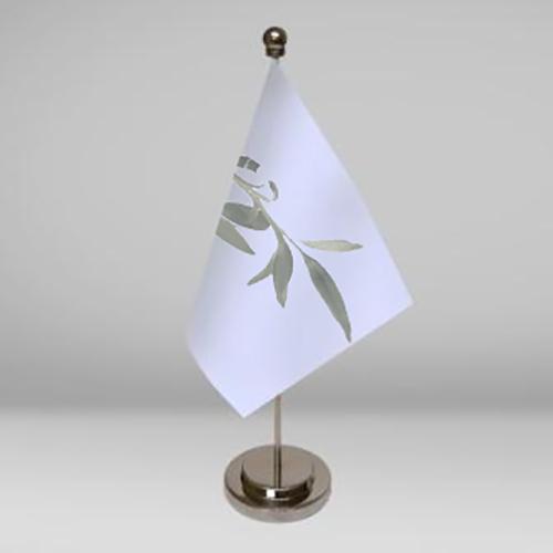 Mástil de mesa con bandera y peana incluida
