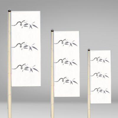 Mástil para publicidad para exterior con banderas publicitarias