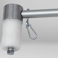 Sistema giratorio para mástil exterior publicidad