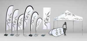 Selezione di supporti per la pubblicità di Ádivin Beach Flags