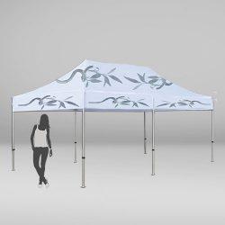 Carpa a medida de 3 por 6 metros con 6 patas y techo para eventos