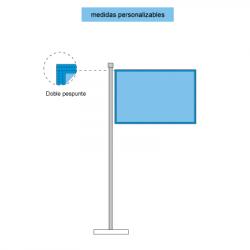 Representación de las banderas horizontales cosido perimetral
