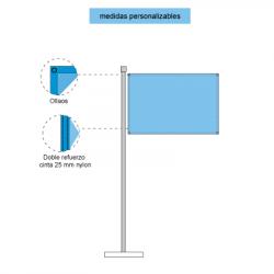 Representación con elementos y piezas de las banderas horizontales con ollaos