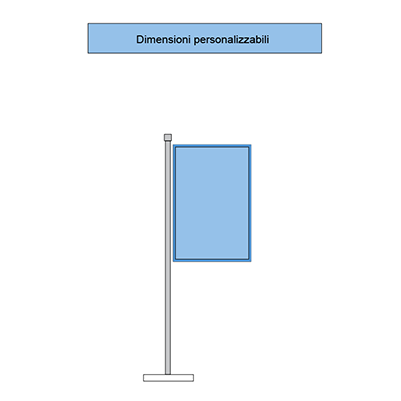 Immagine di bandiera verticale solo stampata, senza nessuna cucitura